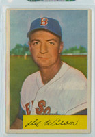 1954 Bowman Baseball 178 Del Wilber Boston Red Sox Excellent