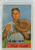 1954 Bowman Baseball 183 Matt Batts Detroit Tigers Near-Mint