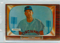 1955 Bowman Baseball 155 Gerry Staley Cincinnati Reds Very Good to Excellent