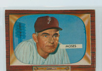 1955 Bowman Baseball 294 Wally Moses High Number Philadelphia Phillies Good to Very Good