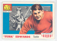 1955 Topps AA Football 36 Turk Edwards Single Print  Wash St. Excellent