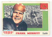 1955 Topps AA Football 55 Frank Merritt Single Print Army Black Knights Very Good to Excellent