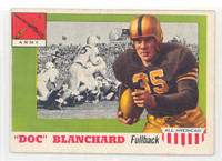 1955 Topps AA Football 59 Doc Blanchard ROOKIE Army Black Knights Excellent