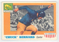1955 Topps AA Football 94 Chuck Bernard Single Print Mich Wolverines Very Good to Excellent