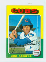 1975 Topps Mini Baseball 15 Jose Cardenal Chicago Cubs Near-Mint Plus