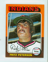 1975 Topps Mini Baseball 62 Fritz Peterson Cleveland Indians Near-Mint Plus