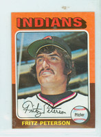 1975 Topps Mini Baseball 62 Fritz Peterson Cleveland Indians Near-Mint to Mint