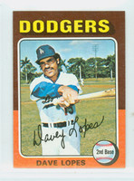 1975 Topps Mini Baseball 93 Dave Lopes Los Angeles Dodgers Near-Mint
