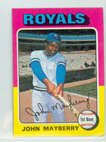 1975 Topps Mini Baseball 95 John Mayberry Kansas City Royals Very Good to Excellent