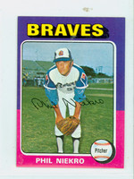 1975 Topps Mini Baseball 130 Phil Niekro Atlanta Braves Excellent to Mint