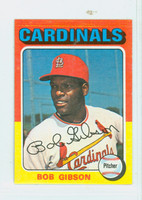1975 Topps Mini Baseball 150 Bob Gibson St. Louis Cardinals Very Good to Excellent