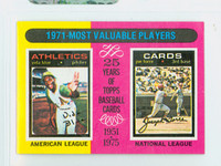 1975 Topps Mini Baseball 209 1971 MVP Excellent