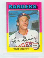 1975 Topps Mini Baseball 234 Tom Grieve Texas Rangers Excellent
