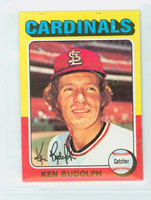 1975 Topps Mini Baseball 289 Ken Rudolph St. Louis Cardinals Very Good to Excellent