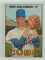 1967 OPC Baseball 185 Ken Holtzman ROOKIE Chicago Cubs Very Good to Excellent