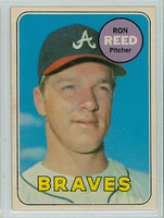 1969 OPC Baseball 177 Ron Reed Atlanta Braves Excellent to Excellent Plus
