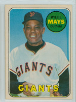1969 OPC Baseball 190 Willie Mays San Francisco Giants Excellent
