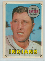 1969 OPC Baseball 201 Russ Snyder Cleveland Indians Very Good to Excellent
