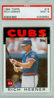 1986 Topps Baseball 19 Rich Hebner Chicago Cubs PSA 9 Mint