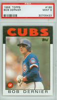 1986 Topps Baseball 188 Bob Dernier Chicago Cubs PSA 9 Mint