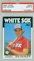 1986 Topps Baseball 239 Joel Skinner Chicago White Sox PSA 9 Mint