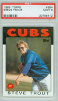 1986 Topps Baseball 384 Steve Trout Chicago Cubs PSA 9 Mint