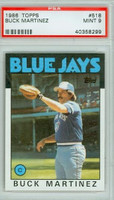 1986 Topps Baseball 518 Buck Martinez Toronto Blue Jays PSA 9 Mint