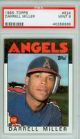 1986 Topps Baseball 524 Darrell Miller California Angels PSA 9 Mint