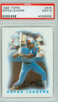 1986 Topps Baseball 576 Expos Leaders PSA 9 Mint