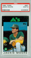 1986 Topps Baseball 591 Jackie Moore Oakland Athletics PSA 9 Mint