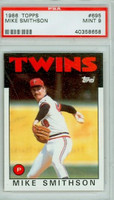1986 Topps Baseball 695 Mike Smithson Minnesota Twins PSA 9 Mint