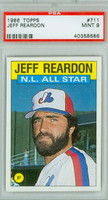1986 Topps Baseball 711 Jeff Reardon AS Montreal Expos PSA 9 Mint