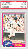 1981 Topps Baseball 365 Graig Nettles New York Yankees PSA 9 Mint