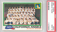 1981 Topps Baseball 663 Angels Team PSA 9 Mint