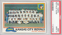 1981 Topps Baseball 667 Royals Team PSA 9 Mint