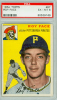 1954 Topps Baseball 87 Elroy Face Pittsburgh Pirates PSA 6 Excellent to Mint