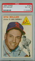 1954 Topps Baseball 164 Stu Miller St. Louis Cardinals PSA 6 Excellent to Mint