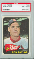 1965 Topps Baseball 568 Ron Taylor High Number Single Print St. Louis Cardinals PSA 6 Excellent to Mint