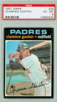 1971 Topps Baseball 25 Clarence Gaston San Diego Padres PSA 6 Excellent to Mint