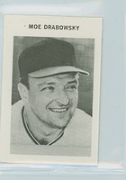 1969 Milton Bradley Baseball 77 Moe Drabowsky Kansas City Royals Near-Mint