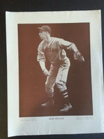Baseball Magazine Player Posters 1949 Bob Feller Cleveland Indians Good to Very Good