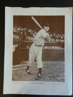 Baseball Magazine Player Posters 1952 Lou Boudreau Cleveland Indians Good to Very Good