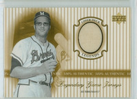 2000 Upper Deck Legendary Jerseys Insert 1:48 Joe Torre Atlanta Braves Near-Mint to Mint