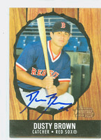 Dusty Brown AUTOGRAPH 2003 Bowman Heritage 1958 Hires Root Beer Design Red Sox 