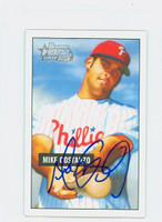Mike Costanzo AUTOGRAPH 2005 Bowman Heritage Mini 1951 Bowman Design Phillies 