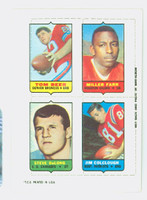 1969 Topps Football 4-1s Beer|Farr|Colclough|DeLong Excellent to Mint