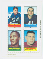 1969 Topps Football 4-1s Howley|Piccolo|Hanburger|Barnes Excellent to Mint