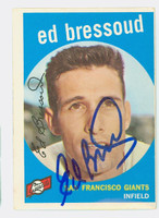 Ed Bressoud AUTOGRAPH 1959 Topps #19 Giants CARD IS VG; CLEAN  [SKU:BresE707_T59BBC]