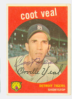 Coot Veal AUTOGRAPH 1959 Topps #52 Tigers CARD IS CLEAN VG/EX  [SKU:VealC3017_T59BBC]