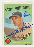Stan Williams AUTOGRAPH 1959 Topps #53 Dodgers  PERS; OW SHARP EX  [SKU:WillS752_T59BBC]